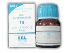 <b>19 - Bio Combination </B><br><b>JOINT AND MUSCLES PAIN - RHEUMATISM</B><br>net 25g - SBL